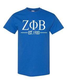 Zeta Phi Beta Custom Greek Lettered Short Sleeve T-Shirt
