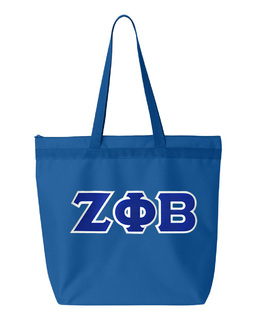 DISCOUNT-Zeta Phi Beta Lettered Game Day Tote