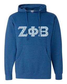 Zeta Phi Beta Lettered Independent Trading Co. Hooded Pullover Sweatshirt