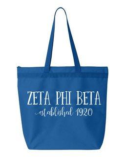 Zeta Phi Beta New Established Tote Bag
