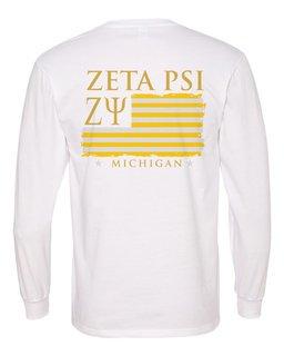 Zeta Psi Stripes Long Sleeve T-shirt