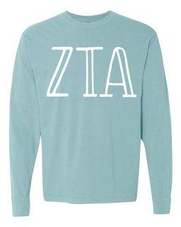 Zeta Tau Alpha Comfort Colors Greek Long Sleeve T-Shirt