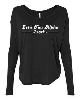 Zeta Tau Alpha Mom Bella + Canvas - Women's Flowy Long Sleeve Tee