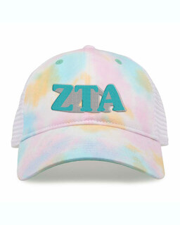 Zeta Tau Alpha Sorority Sorbet Tie Dyed Twill Hat