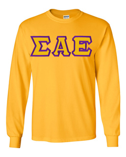 $19.99 Sigma Alpha Epsilon Custom Twill Long Sleeve T-Shirt