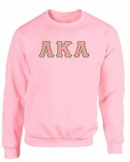 Alpha Kappa Alpha - 2 Day Ship Twill Crewneck Sweatshirt