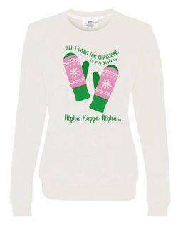 Alpha Kappa Alpha All I Want For Christmas Crew