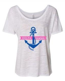 Delta Gamma Anchor Slouchy T-Shirt
