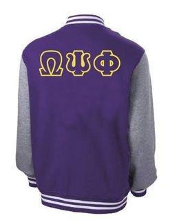 Fraternity & Sorority Fleece Letterman Jacket