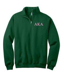 Alpha Kappa Alpha Sweatshirt - Quarter Zip