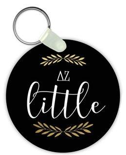 Delta Zeta Lil Sister Keychain