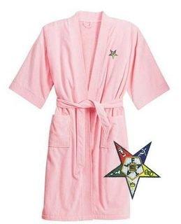 DISCOUNT-Order Of Eastern Star  Patch  Bathrobe