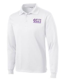 Phi Sigma Pi- $35 World Famous Long Sleeve Dry Fit Polo