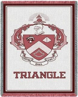 Triangle Fraternity Afghan Blanket Throw