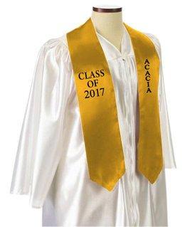 ACACIA Embroidered Graduation Sash Stole