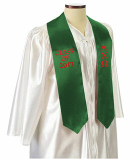 Alpha Chi Omega Embroidered Graduation Sash Stole