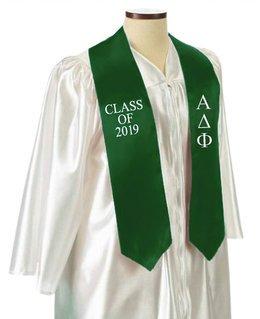 Alpha Delta Phi Embroidered Graduation Sash Stole