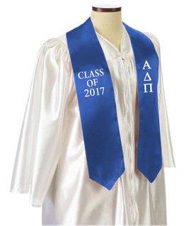 Alpha Delta Pi Embroidered Graduation Sash Stole