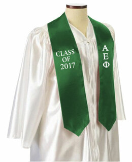Alpha Epsilon Phi Embroidered Graduation Sash Stole
