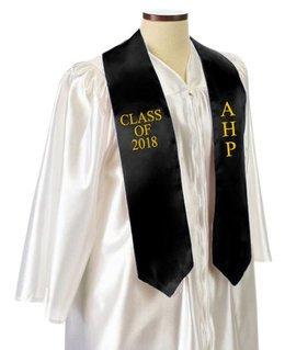 Alpha Eta Rho Embroidered Graduation Sash Stole