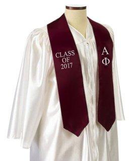 Alpha Phi Embroidered Graduation Sash Stole