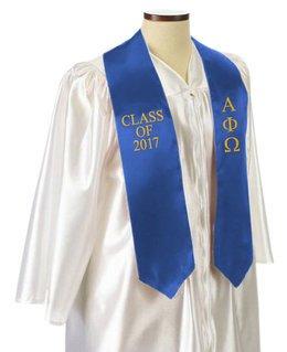 Alpha Phi Omega Embroidered Graduation Sash Stole