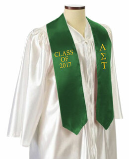 Alpha Sigma Tau Embroidered Graduation Sash Stole