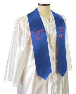 Chi Phi Embroidered Graduation Sash Stole