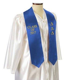 Delta Delta Delta Embroidered Graduation Sash Stole