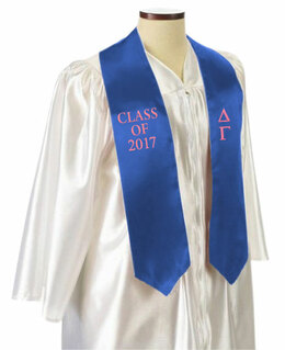 Delta Gamma Embroidered Graduation Sash Stole