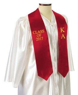 Kappa Alpha Embroidered Graduation Sash Stole