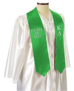 Kappa Delta Embroidered Graduation Sash Stole