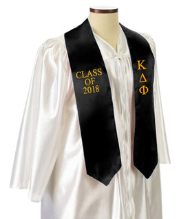 Kappa Delta Phi Embroidered Graduation Sash Stole