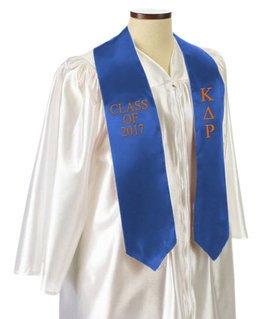 Kappa Delta Rho Embroidered Graduation Sash Stole