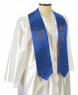 Kappa Delta Rho Embroidered Graduation Sash Stole