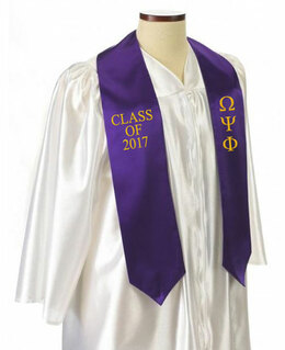 Omega Psi Phi Embroidered Graduation Sash Stole