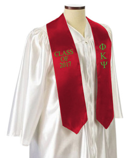 Phi Kappa Psi Embroidered Graduation Sash Stole