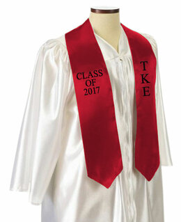 Tau Kappa Epsilon Embroidered Graduation Sash Stole