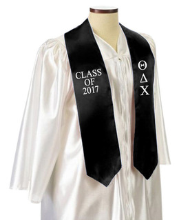 Theta Delta Chi Embroidered Graduation Sash Stole