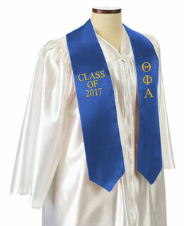 Theta Phi Alpha Embroidered Graduation Sash Stole