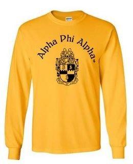 Alpha Phi Alpha World Famous Crest - Shield Long Sleeve T-Shirt- $19.95!