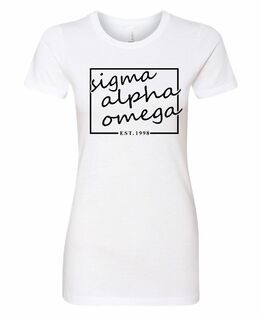 Sigma Alpha Omega Triblend Short Sleeve Box T-Shirt