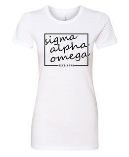 Sigma Alpha Omega Triblend Short Sleeve Box T-Shirt