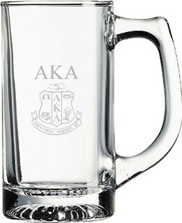Alpha Kappa Alpha Glass Engraved Mug