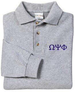 Omega Psi Phi Long Sleeve Polo