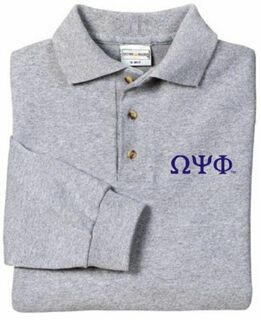 Omega Psi Phi Long Sleeve Polo