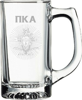 Pi Kappa Alpha Glass Engraved Mug