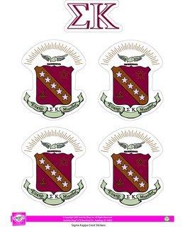 Sigma Kappa Crest Sticker Sheet