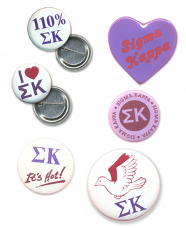 Sigma Kappa Sorority Buttons 6-Pack