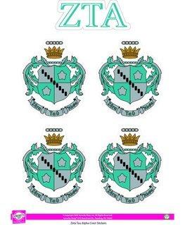 Zeta Tau Alpha Crest Sticker Sheet